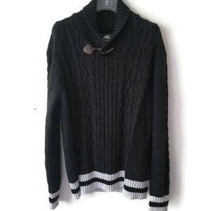 Roots Sweater Cabin Shawl Collar sz XL